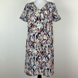 New the limited dress size S multicolored V-neck